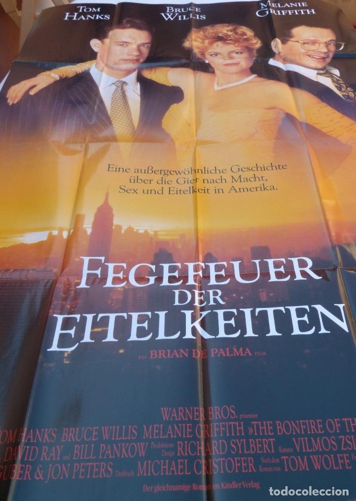 FEGEVER DER EITELKEITEN MOVIE POSTER/GERMANY, STYLE A0,TOM HANKS,BRUCE WILLIS (Cine - Posters y Carteles - Suspense)