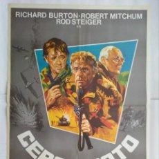 Cine: CARTEL CINE, CERCO ROTO. AÑO 1979, RICHARD BURTON, ROBERT MITCHUM, ROD STEIGER, C179. Lote 108970315