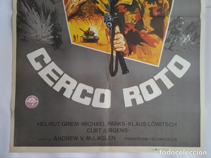 Cine: CARTEL CINE, CERCO ROTO. AÑO 1979, RICHARD BURTON, ROBERT MITCHUM, ROD STEIGER, C179 - Foto 3 - 108970315