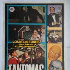 Cine: CARTEL CINE, FANTOMAS CONTRA SCOTLAND YARD (1977) LOUIS DE FUNÈS , JEAN MARAIS, C184. Lote 108976255