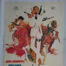 Cine: CARTEL CINE, TODOS LOS HERMANOS ERAN AGENTES - NEIL CONNERY - AÑO 1968 , C187. Lote 108977779
