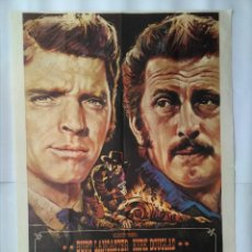 Cine: CARTEL CINE, DUELO DE TITANES, BURT LANCASTER, KIRK DOUGLAS, 1974 POSTER ORIGINAL, C191. Lote 108979603