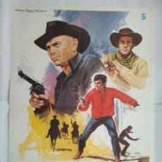 Cine: CARTEL CINE, EL REGRESO DE LOS 7 MAGNIFIFICOS. YUL BRYNNER, AÑO 1980, JANO, C194. Lote 108988771