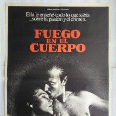 Cine: CARTEL CINE, FUEGO EN EL CUERPO. WILLIAM HURT, KATHLEEN TURNER. AÑO 1982 C195. Lote 108989091