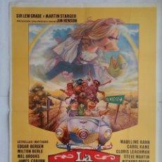 Cine: CARTEL CINE, LA PELICULA DE LOS TELEÑECOS. EDGAR BERGEN, MILTON BERLE, MEL BROOKS. AÑO 1980 , C199. Lote 108990319