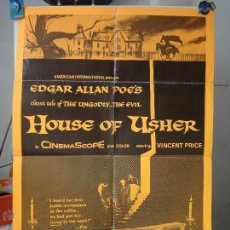 Cine: POSTER ORIGINAL THE FALL OF THE HOUSE OF USHER CAIDA DE LA CASA USHER VINCENT PRICE. Lote 109033291