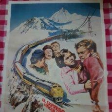 Cine: CARTEL CINE ORIGINAL 1979 EL EXPRESO HACIA LA MUERTE. Lote 109033859