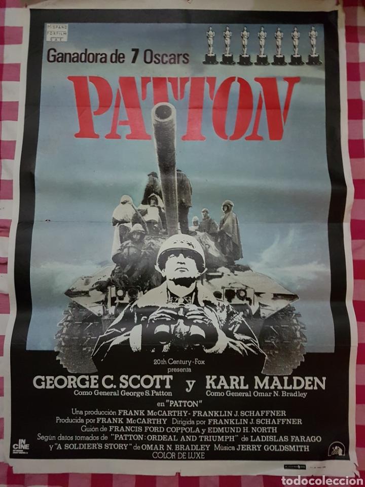 CARTEL CINE ORIGINAL PATTON (Cine - Posters y Carteles - Bélicas)