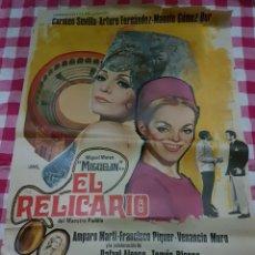 Cine: CARTEL CINE ORIGINAL EL RELICARIO CARMEN SEVILLA ARTURO FERNANDEZ 1970. Lote 109041964