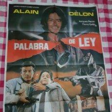 Cine: CARTEL CINE ORIGINAL PALABRA DE LEY ALAIN DELON 1986 M. Lote 109044180