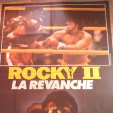Cine: ROCKY II MOVIE POSTER, FOLDED,SYLVESTER STALLONE,1979. Lote 109049643