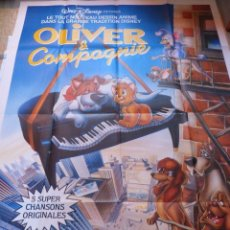 Cine: OLIVE & COMPANY MOVIE POSTER,FOLDED FRENCH, 1988. Lote 109050403