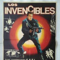 Cine: CARTEL CINE, LOS INVENCIBLES. LEWIS COLLINS, JUDY DAVIS, RICHARD WIDMARK. AÑO 1982, C204. Lote 109050867
