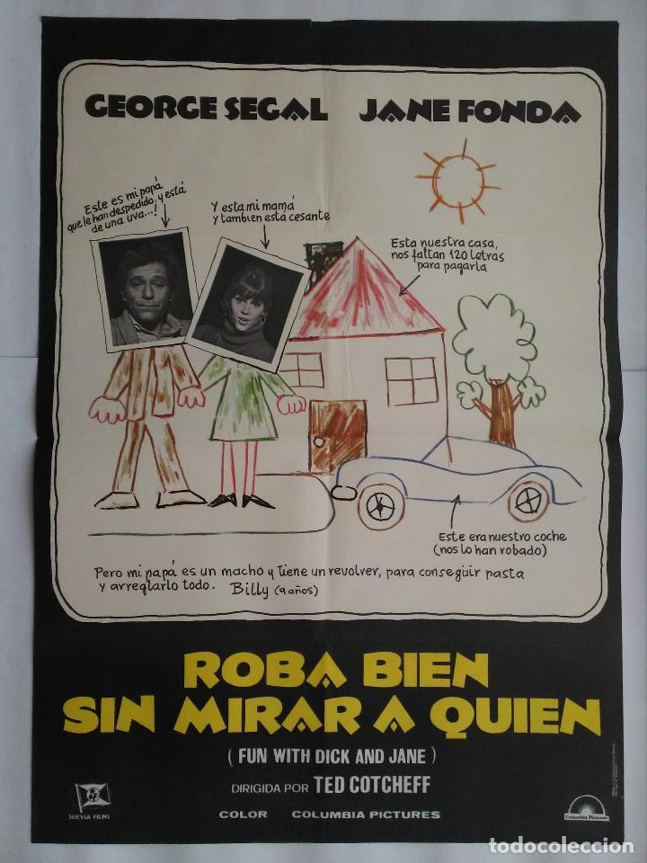 CARTEL CINE, ROBA BIEN SIN MIRAR A QUIEN. GEORGE SEGAL, JANE FONDA. AÑO 1977, C209 (Cine - Posters y Carteles - Comedia)