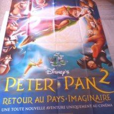 Cine: PETER PAN 2 RETOUR AU PAYS IMAGINAIRE MOVIE POSTER,FRENCH,FOLDED,DISNEY. Lote 109051775