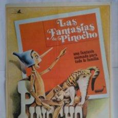 Cine: CARTEL CINE, LAS AVENTURAS DE PINOCHO, C211. Lote 109052031