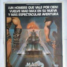 Cine: CARTEL CINE, MAD MAX 2 EL GUERRERO DE LA CARRETERA, MEL GIBSON, C214. Lote 109052291