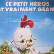 Cine: CHICKEN LITTLE MOVIE POSTER, FRENCH, 2005/FOLDED/TEASER. Lote 109052579