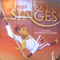 Cine: LE CHATEAU DES SINGES MOVIE POSTER FRENCH, FOLDED,DOLBY DIGITAL. Lote 109054263