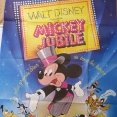 Cine: MICKEY MOUSE JUBILEE SHOW MOVIE POSTER, FRENCH/FOLDED. Lote 109092955