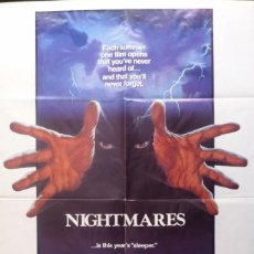 Cine: NIGHTMARES POSTER,ORIGINAL,1983,27X41 INCHES. Lote 109095231