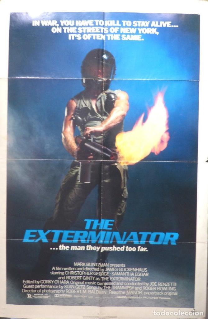 THE EXTERMINATOR ORIGINAL POSTER,1980 (Cine - Posters y Carteles - Bélicas)