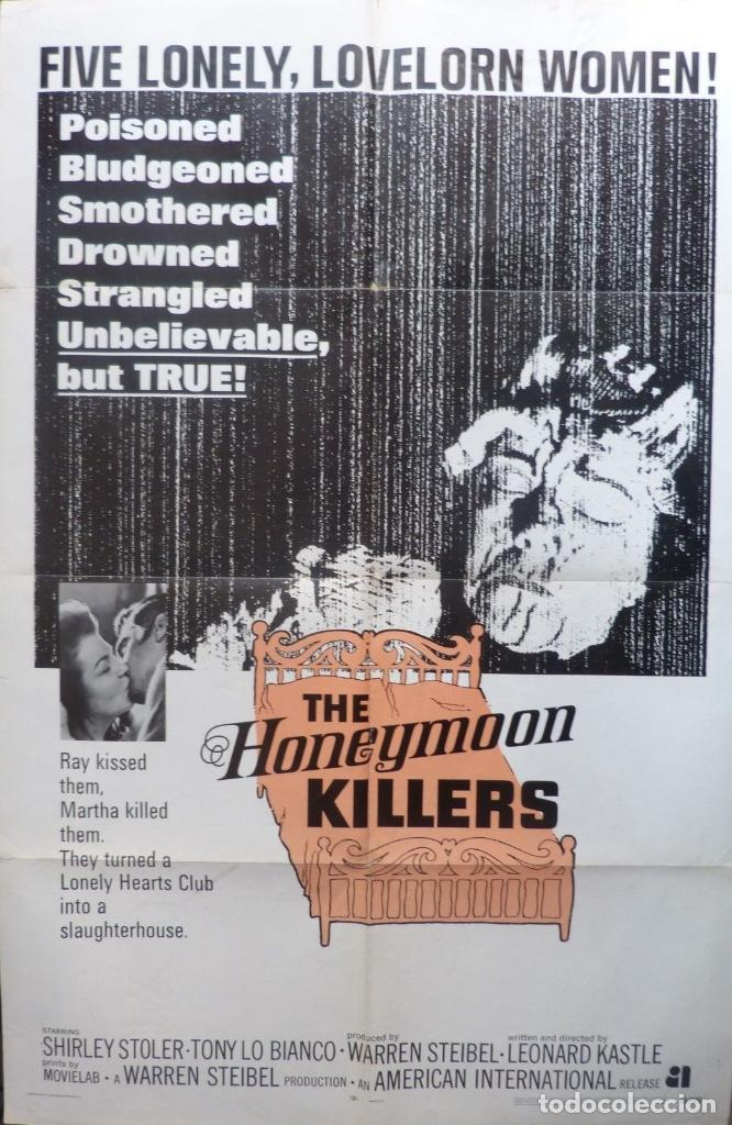 THE HONEYMOON KILLERS POSTER,1969,ORIGINAL,RARO, 27 X 41 INCHES (Cine - Posters y Carteles - Terror)