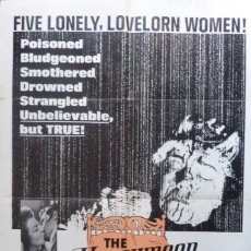Cine: THE HONEYMOON KILLERS POSTER,1969,ORIGINAL,RARO, 27 X 41 INCHES. Lote 109098835