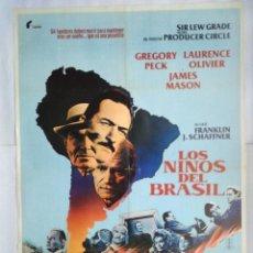 Cine: CARTEL CINE. LOS NIÑOS DEL BRASIL. GREGORY PECK, LAURENCE OLIVIER, JAMES MASON. AÑO 1979, C230. Lote 109101439