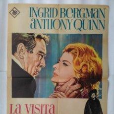 Cine: CARTEL CINE, LA VISITA DEL RENCOR, INGRID BERGMAN, ANTHONY QUINN, ALBERICIC, AÑO 1964, C239. Lote 109147263
