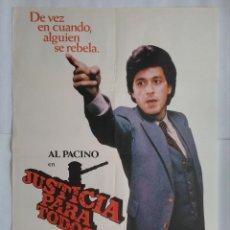 Cine: CARTEL CINE, JUSTICIA PARA TODOS. AL PACINO, JACK WARDEN, JOHN FORSYTHE. AÑO 1979, C240. Lote 109147487
