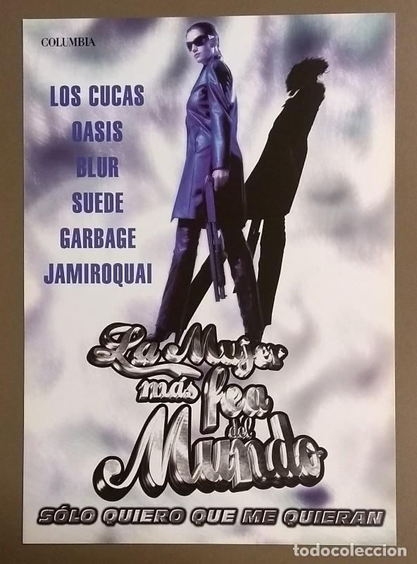 CARTEL PUBLICITARIO PROMOCIONAL. B.S.O. LA MUJER MÁS FEA DEL MUNDO. SONY. 30 CM. NUEVO (Cine - Posters y Carteles - Clasico Español)
