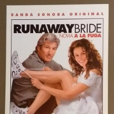 Cine: CARTEL PUBLICITARIO PROMOCIONAL. RUNAWAY BRIDE. NOVIA A LA FUGA. B.S.O. SONY. 30 CM. NUEVO. Lote 109211523