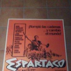 Cine: ESPARTACO KUBRICK KIRK DOUGLAS POSTER ORIGINAL 70X100. Lote 109235275