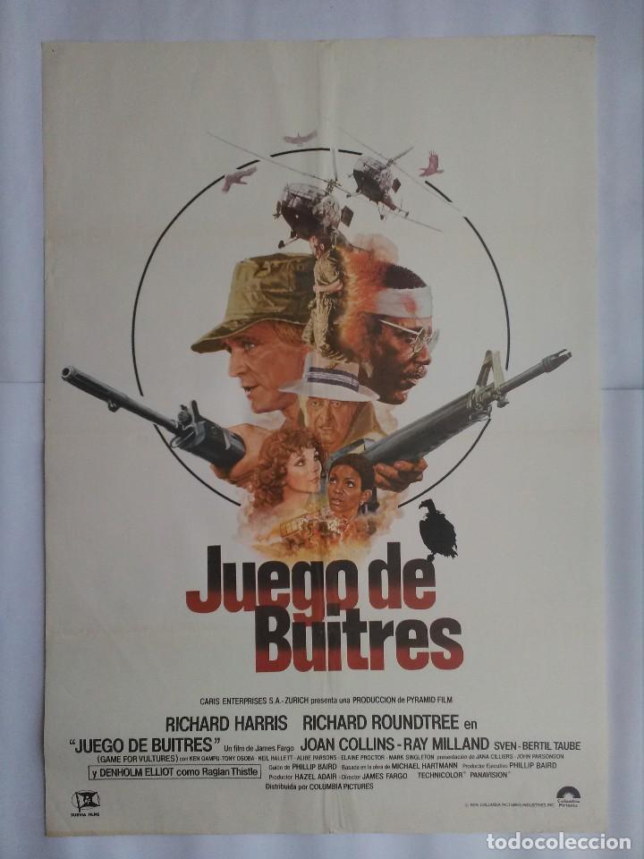 CARTEL CINE, JUEGO DE BUITRES. RICHARD HERRIS, RICHARD ROUNDTREE. AÑO 1979, C244 (Cine - Posters y Carteles - Bélicas)