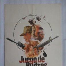 Cinéma: CARTEL CINE, JUEGO DE BUITRES. RICHARD HERRIS, RICHARD ROUNDTREE. AÑO 1979, C244. Lote 109240383