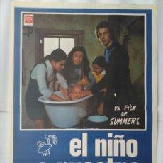 Cine: CARTEL CINE, EL NIÑO ES NUESTRO, Mª ISABEL ALVAREZ, CURRITO, SUMMERS, 1973, C248. Lote 109242283
