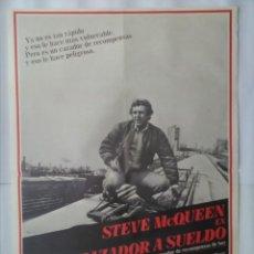 Cine: CARTEL CINE, CAZADOR A SUELDO, STEVE MCQUEEN SU ULTIMA PELICULA, 1980, C251. Lote 109243451