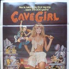 Cine: CAVE GIRL MOVIE POSTER,1985,ORIGINAL.DOBLADO,.27X41 INCHES. Lote 109277123