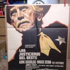 Cine: LOS JUSTICIEROS DEL OESTE. KIRK DOUGLAS, BRUCE DERN. AÑO 1975.. Lote 109284875