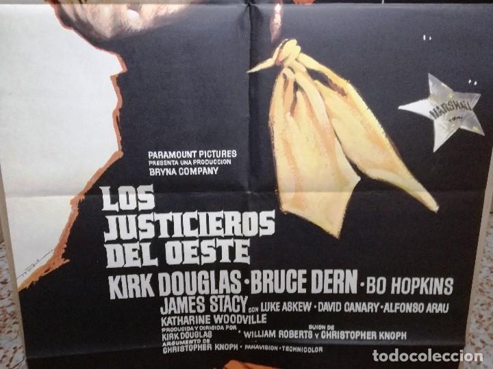 Cine: LOS JUSTICIEROS DEL OESTE. KIRK DOUGLAS, BRUCE DERN. AÑO 1975. - Foto 3 - 109284875