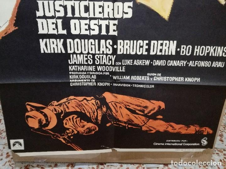 Cine: LOS JUSTICIEROS DEL OESTE. KIRK DOUGLAS, BRUCE DERN. AÑO 1975. - Foto 4 - 109284875