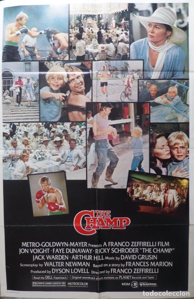 THE CHAMP MOVIE POSTER,1979,METRO-GOLDWYN-MAYER,JON VOIGHT,FAYE DUNAWAY (Cine - Posters y Carteles - Deportes)