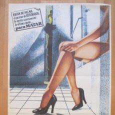 Cine: CARTEL CINE, VESTIDA PARA MATAR, MICHAEL CAINE, ANGIE DICKINSON,1980, C1260. Lote 109288135