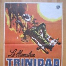 Cine: CARTEL CINE, LE LLAMABAN TRINIDAD, TERENCE HILL, BUD SPENCER, 1979, C1261. Lote 109288447