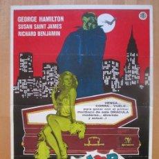 Cine: CARTEL CINE, AMOR AL PRIMER MORDISCO, GEORGE HAMILTON, SUSAN SAINT JAMES, 1979, C1268. Lote 109291231