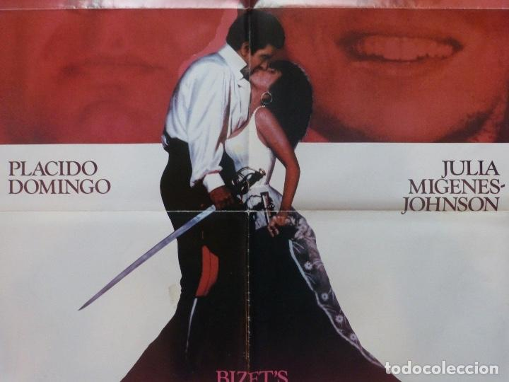 Cine: Bizet´s Carmen movie poster,1984,27x40 inches,Placido Domingo and Julia Migenes- - Foto 3 - 109300363