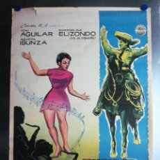 Cine: MUSICA ESPUELAS Y AMOR TONI AGUILAR EVANGELINA ELIZONDO AGUSTIN ISUNZA AÑO 1959 LITOGRAFIA. Lote 109354771