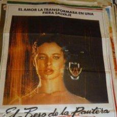 Cine: EL BESO DE LA PANTERA. CARTEL DE CINE- MOVIE POSTES. 100X70 CM APROX. Lote 109368351