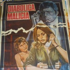 Cine: DIABOLICA MALICIA. CARTEL DE CINE- MOVIE POSTES. 100X70 CM APROX. Lote 109368431